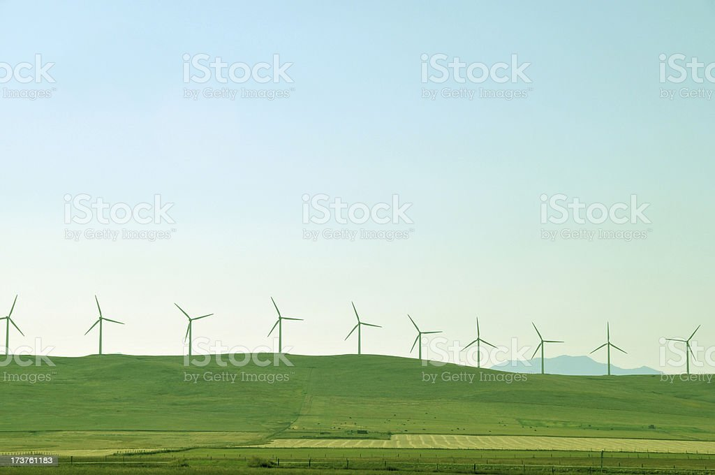 Windmill farm  near Pincher Creek,Alberta,Canada. royalty-free stock photo