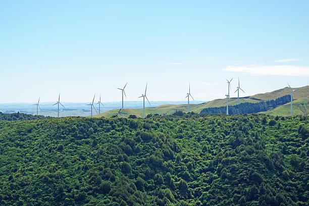 Windmill field stock photo