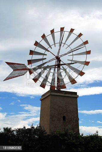 istock Windmill from Mallorca Island 1315680232