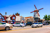 Windmill Glassworks and Alisan road in Solvang CA