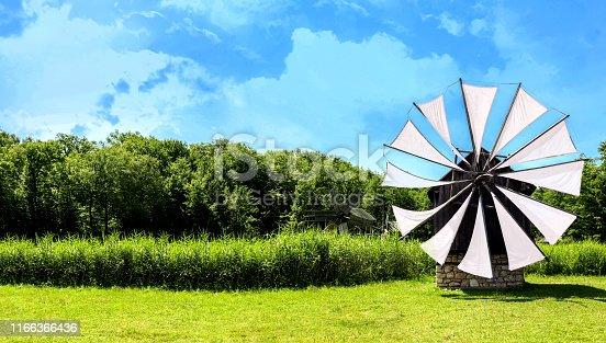 Windmill in beautiful nature