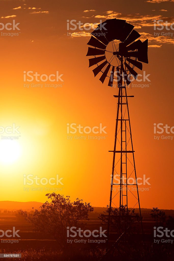 Windmill in Brisbane stock photo