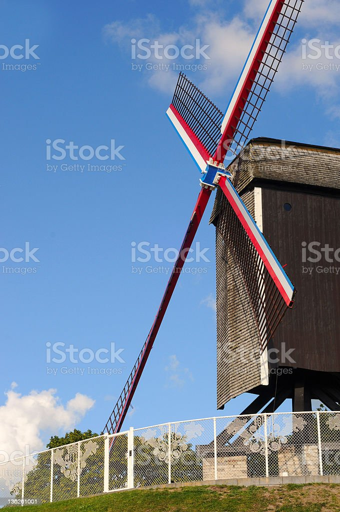 Windmill in Bruges royalty-free stock photo