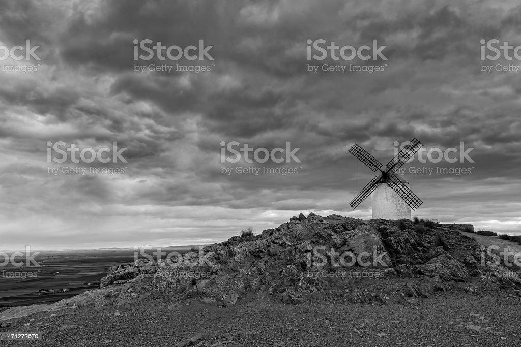 Windmill in Consuegra. stock photo