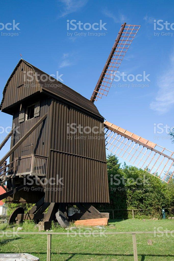 Windmill in Denmark royalty-free stock photo