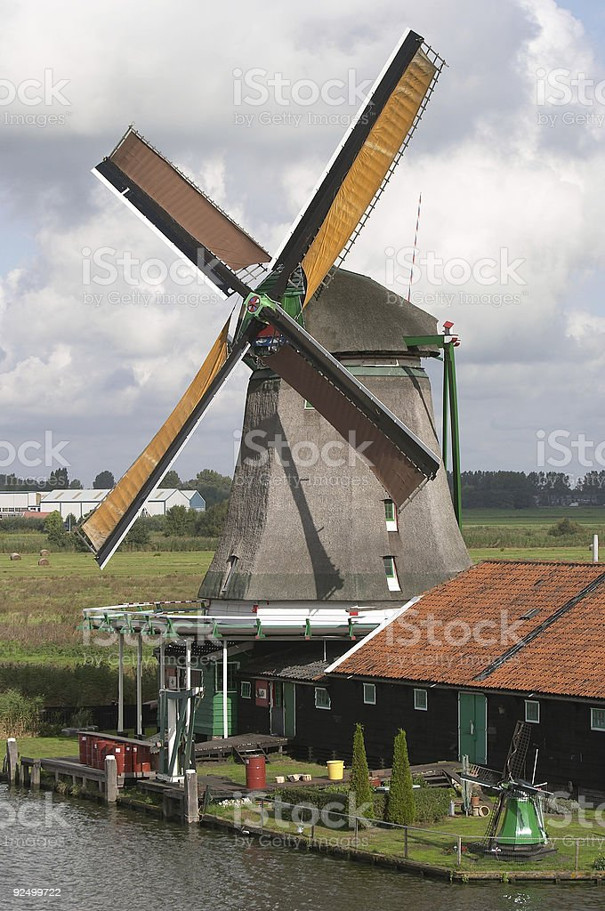 Windmühlen in Holland Lizenzfreies stock-foto