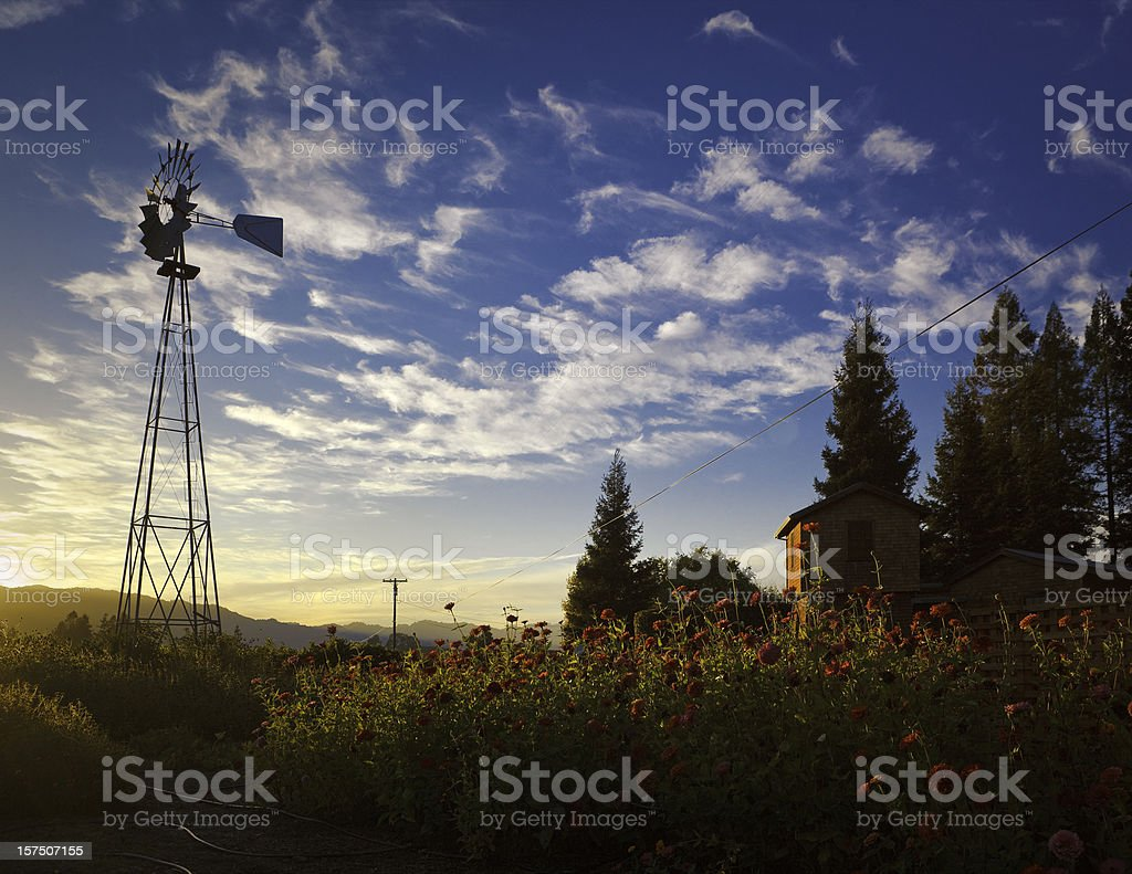 windmill in napa valley royalty-free stock photo