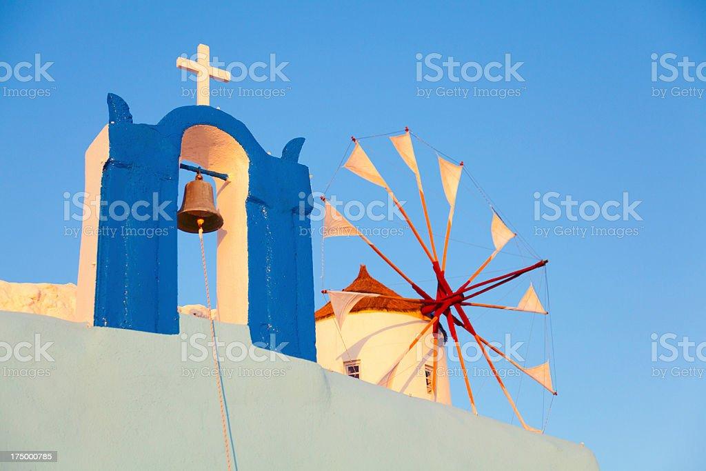 Windmill in Oia, Santorini royalty-free stock photo