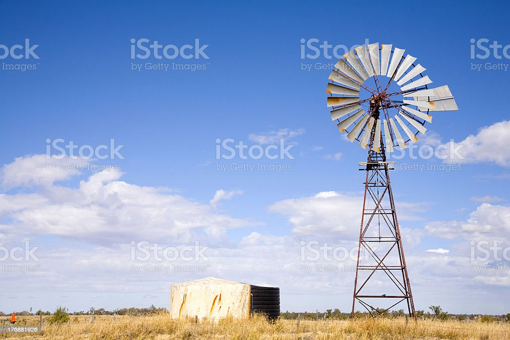 Windmill in Outback Australia royalty-free stock photo