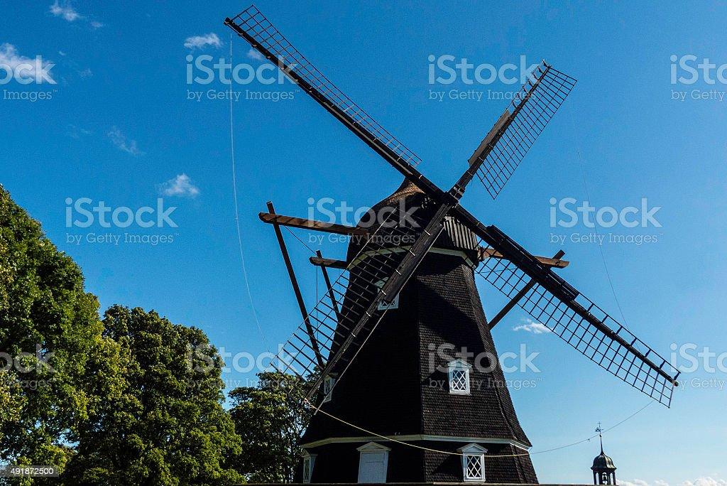 windmill in park Goteburg,Sweden stock photo