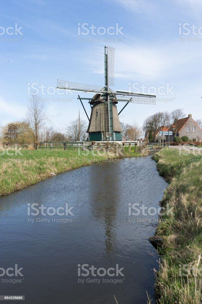 Windmill in Penningsveer royalty-free stock photo