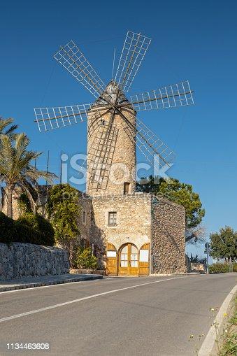 istock Windmill in Sineu, Mallorca, Spain 1134463608