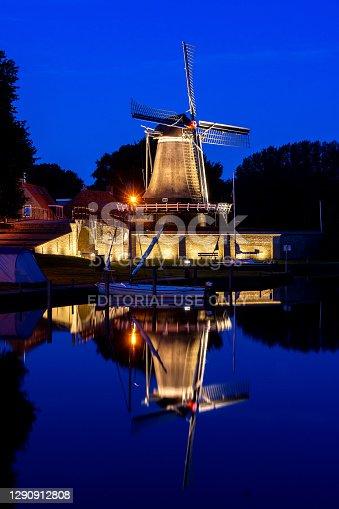 istock Windmill in Sloten at Night 1290912808