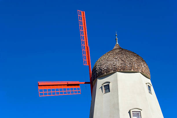 Windmill in the Blue stock photo