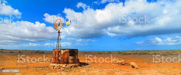 Photo of Windmill in the Outback, Coral Bay, Western Australia