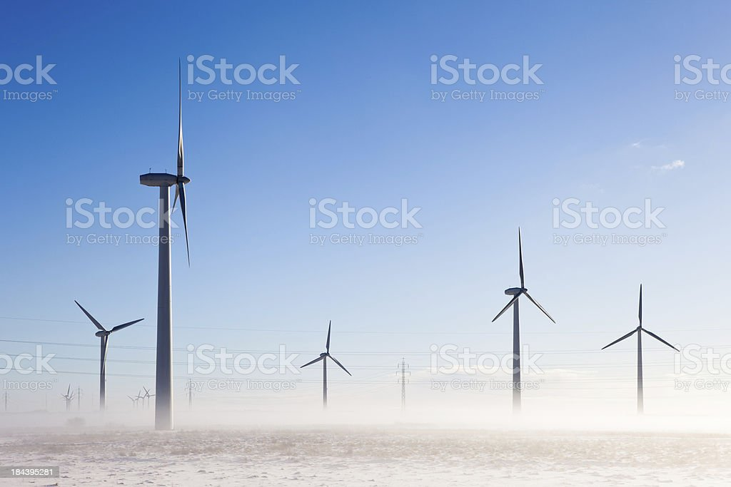 Windmill in the winter royalty-free stock photo