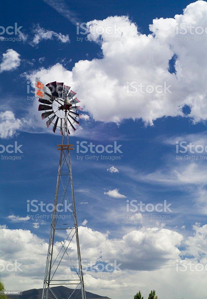 Windmill in Utah stock photo