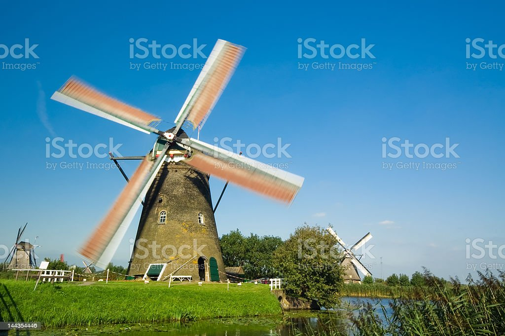 windmill landscape royalty-free stock photo