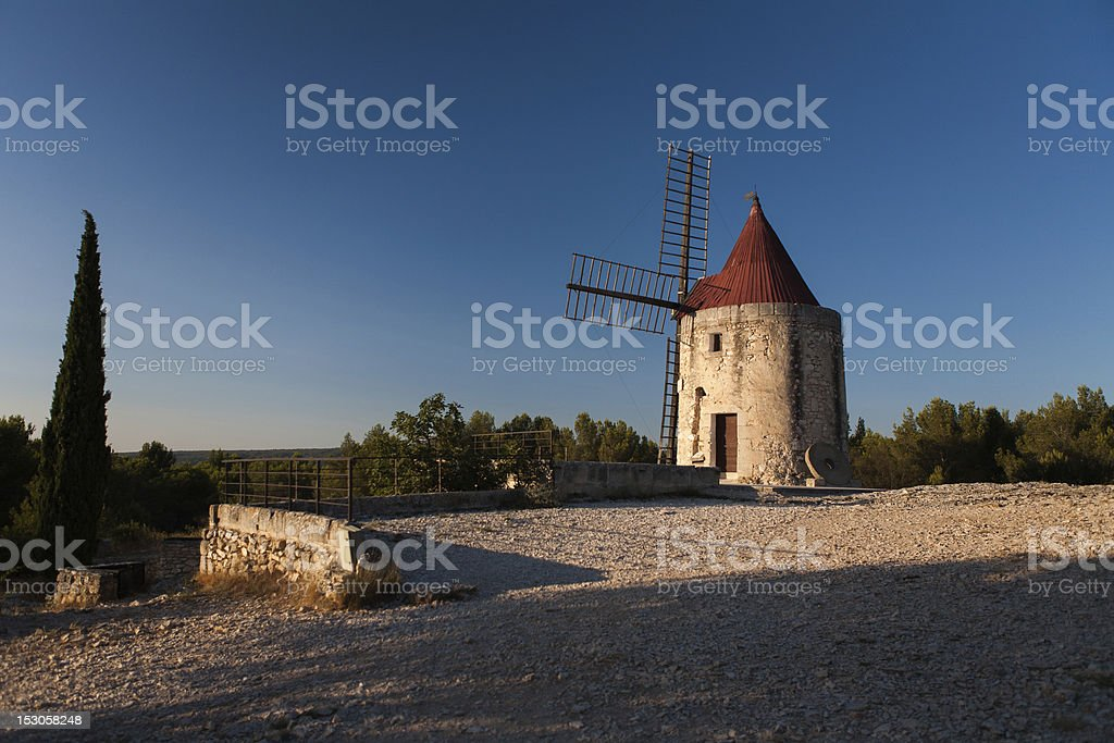 Windmill of Alphonse Daudet stock photo