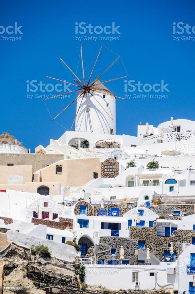 Windmill of Oia - Royalty-free Aegean Islands Stock Photo