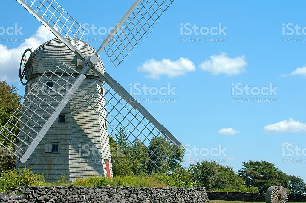 Windmill on a clear day stock photo