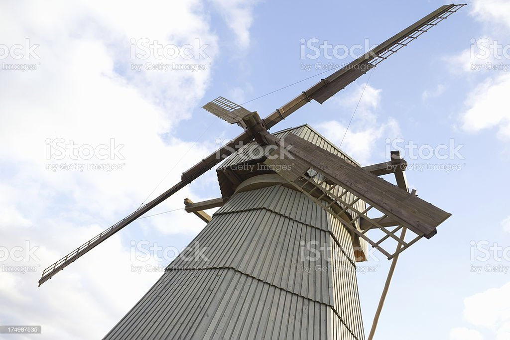 windmill on background sky royalty-free stock photo