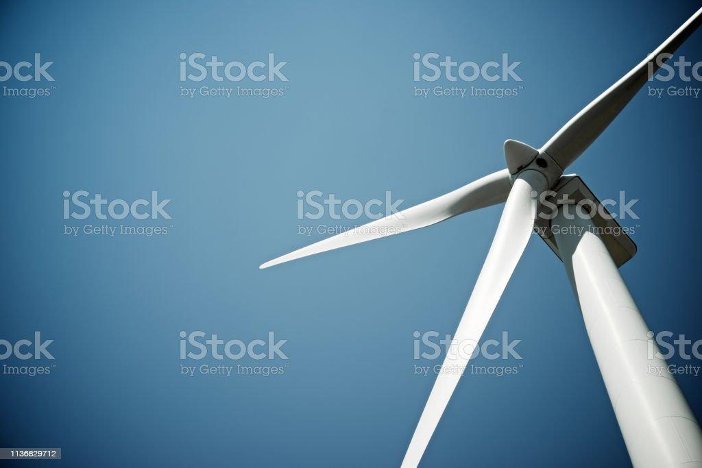Windmill Windmill for electric power production, Burgos Province, Castilla Leon, Spain. Blade Stock Photo