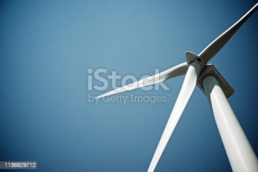 Windmill for electric power production, Burgos Province, Castilla Leon, Spain.