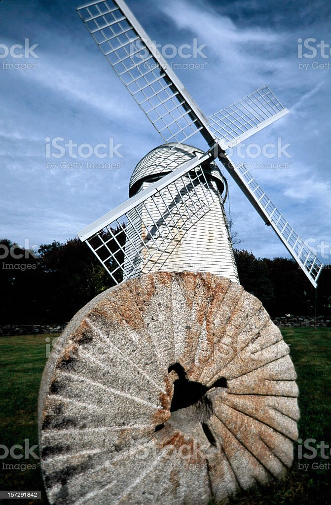 Windmill Windmill and grindstone.  Architecture Stock Photo