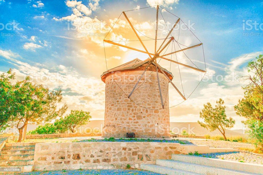 Bâtiment actionné par le vent - Photo
