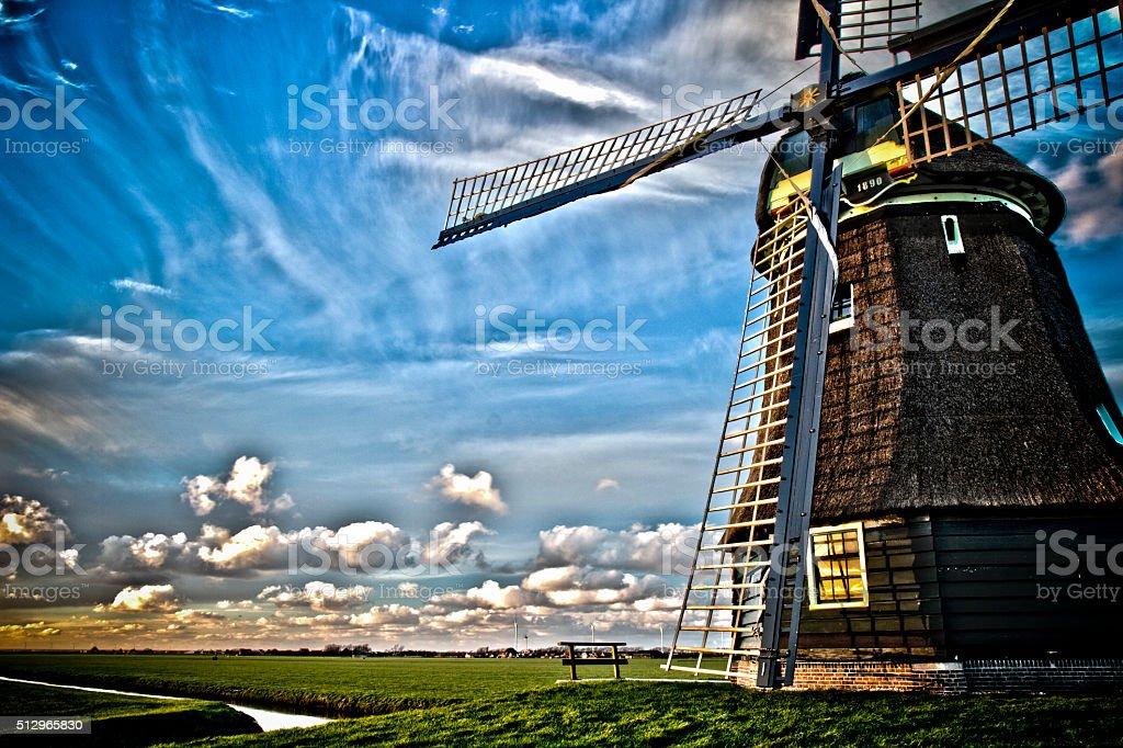 HDR Windmill stock photo