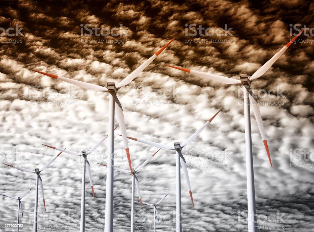 Windmill royalty-free stock photo