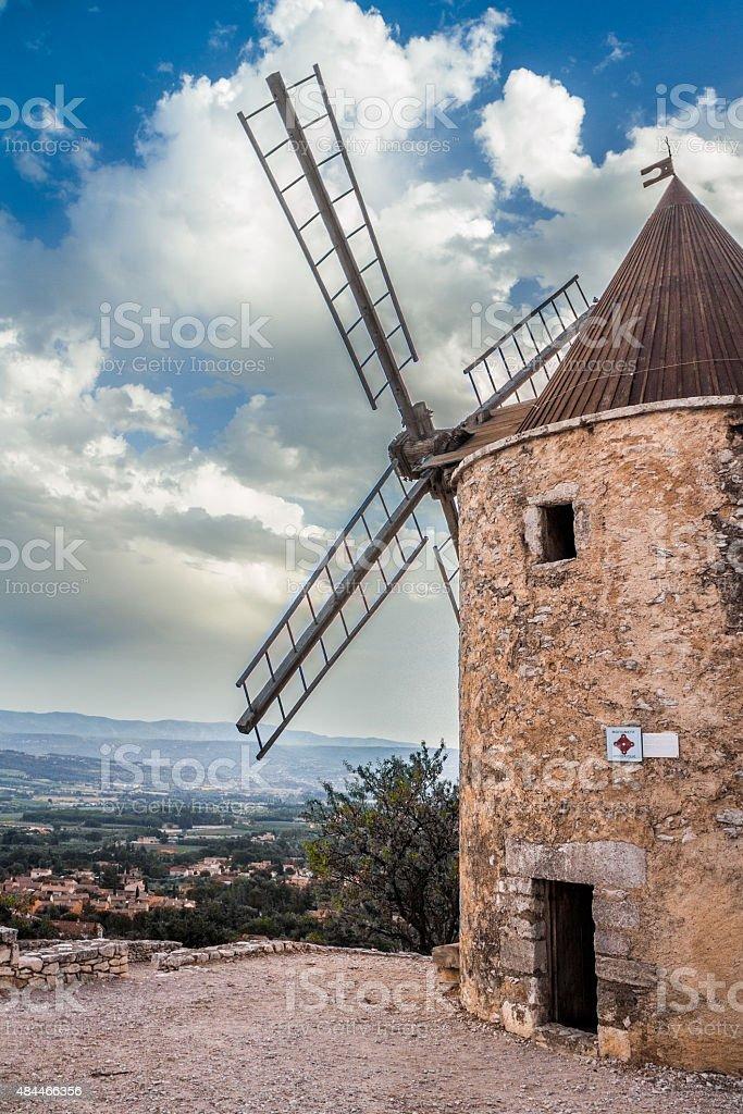 Windmill provence stock photo