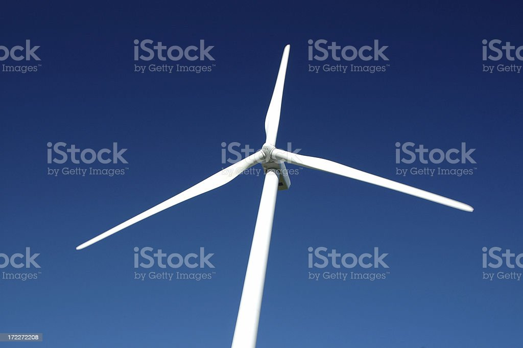 Windmill rotors - electricity generation stock photo