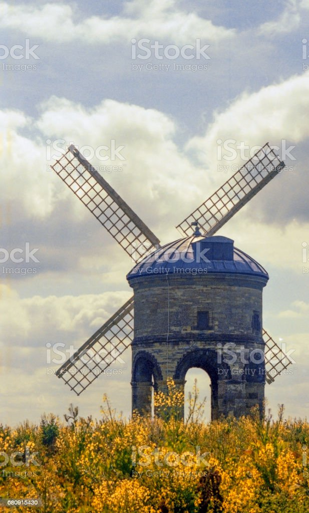 windmill - shot on 35mm colour film royalty-free stock photo