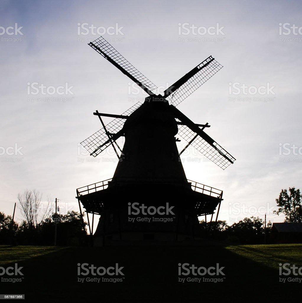 Windmill Silhouette Batavia IL - Photo