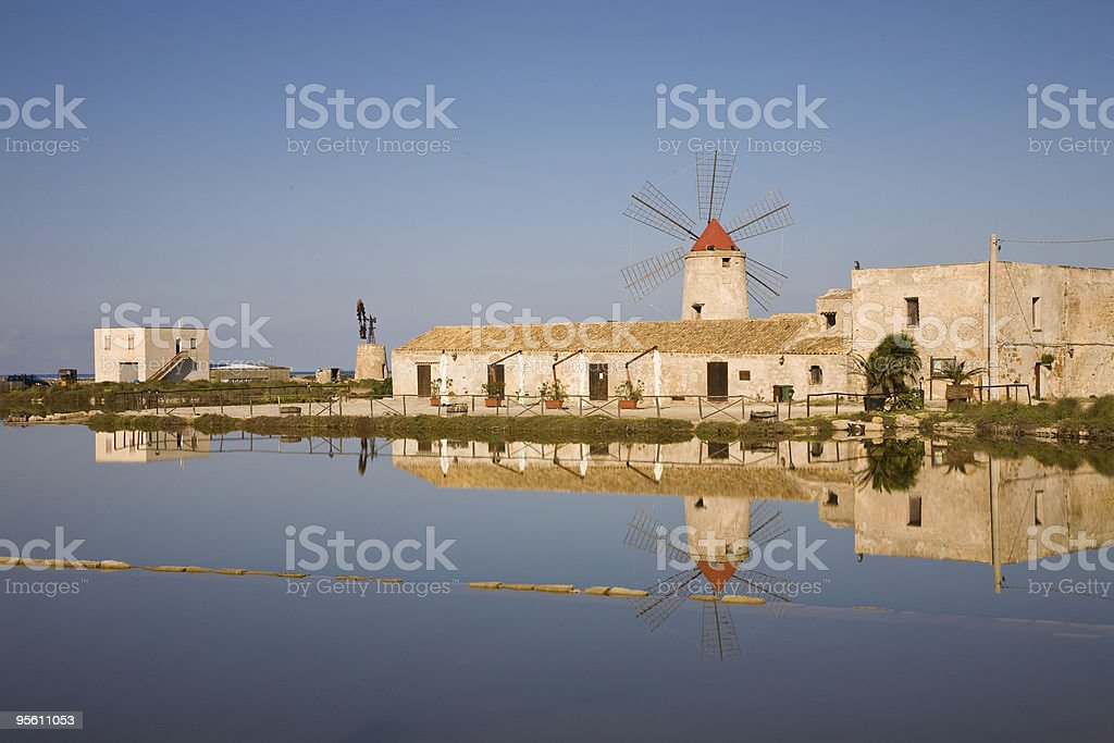Windmill, Trapani stock photo