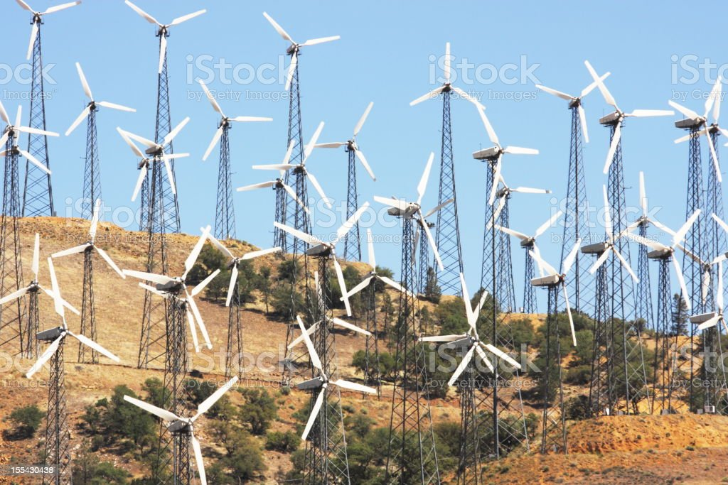 Windmill Vertical Axis Wind Turbine Technology stock photo