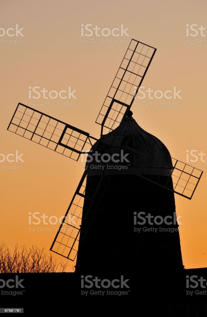 Bâtiment actionné par le vent, Jersey. photo libre de droits