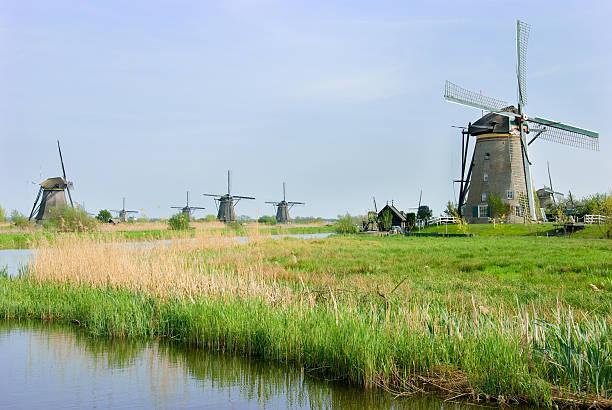 Windmühlen von Kinderdijk, die Niederlande – Foto