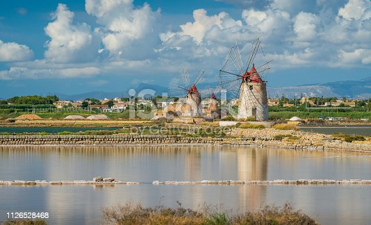 Windmills at the natural reserve of the