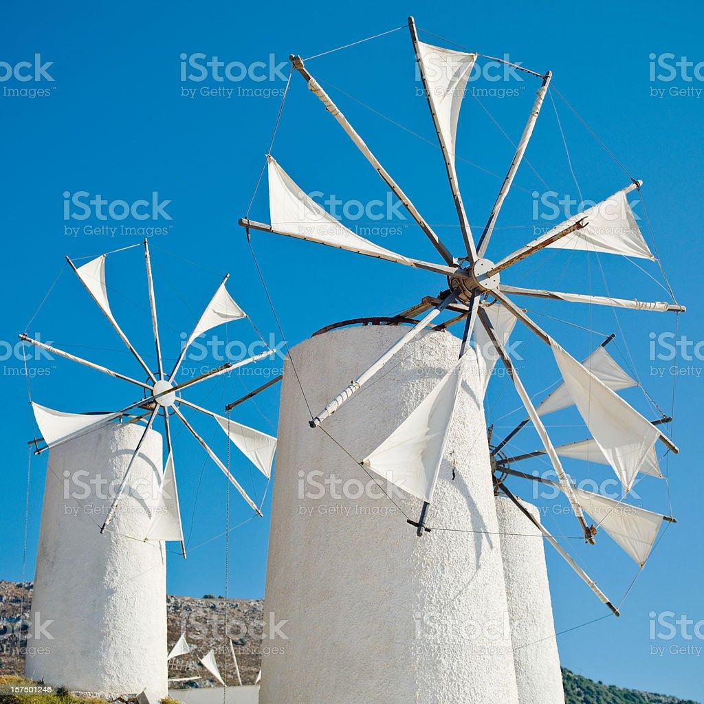 Windmills Greece royalty-free stock photo