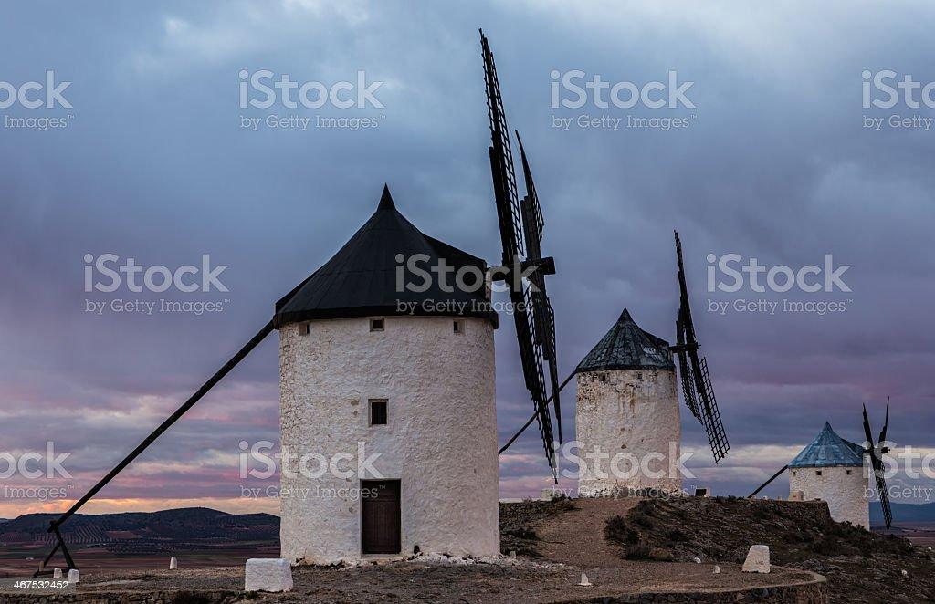 Windmills in Consuegra stock photo