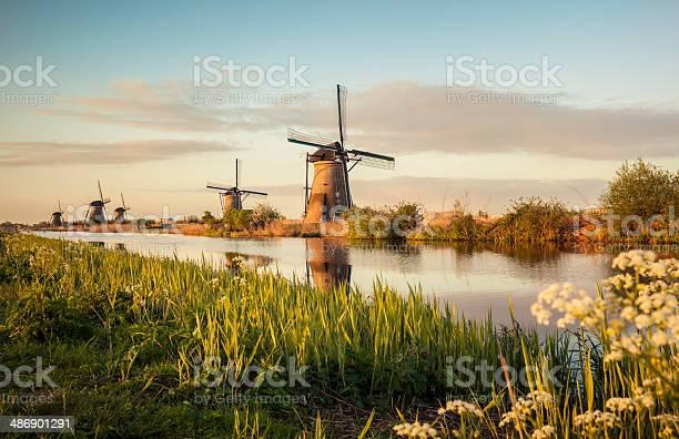 Photo of Windmills in Kinderdijk (Netherlands)