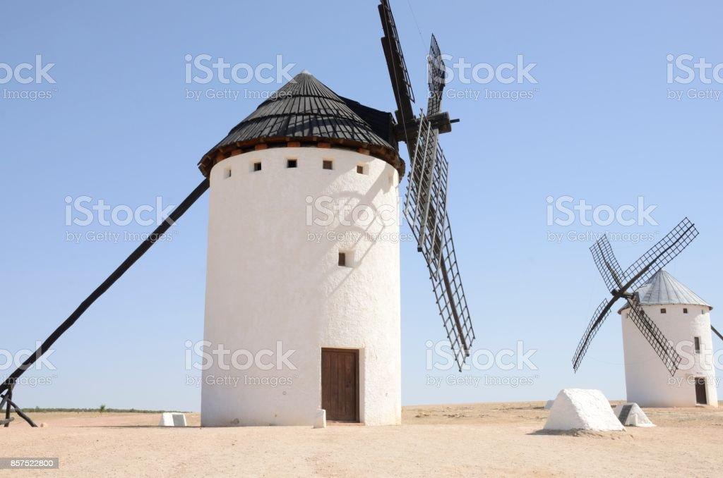 Windmills in Quixote route stock photo