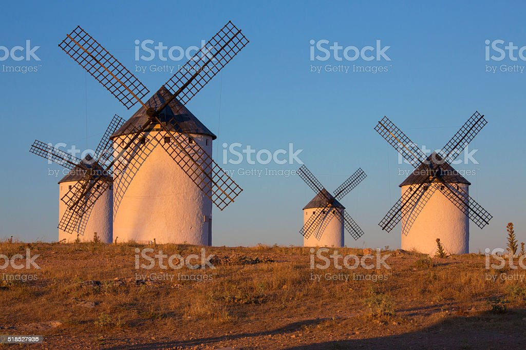 Windmills - La Mancha - Spain stock photo