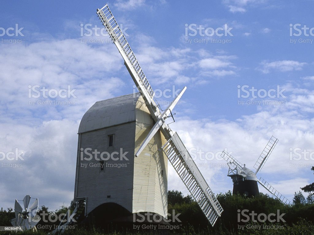Windmills near Brighton. East Sussex. England royalty-free stock photo