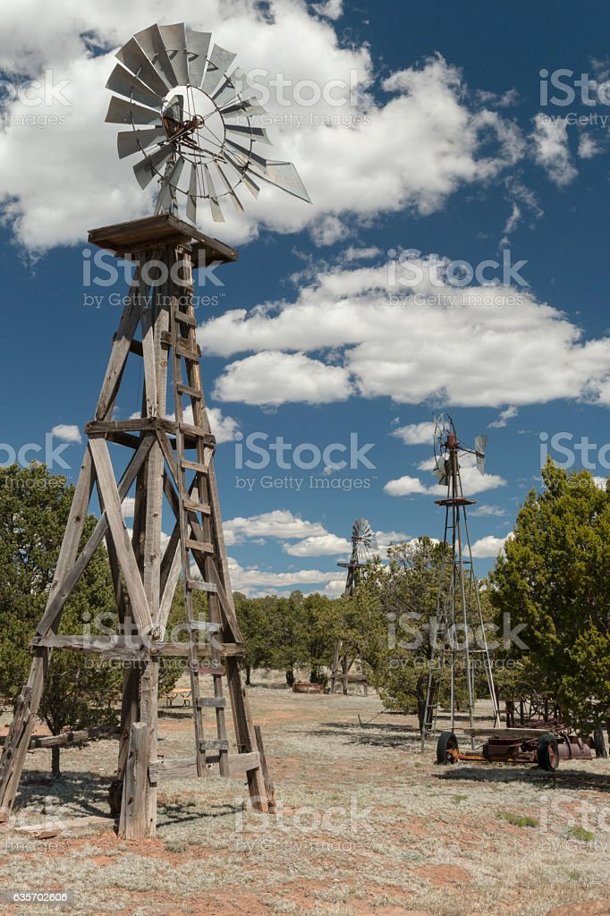 Windmills near Pietown, New Mexico. royalty-free stock photo