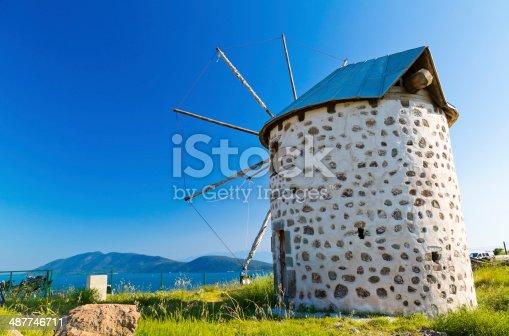 istock Windmills of Bodrum, Turkey 487746711