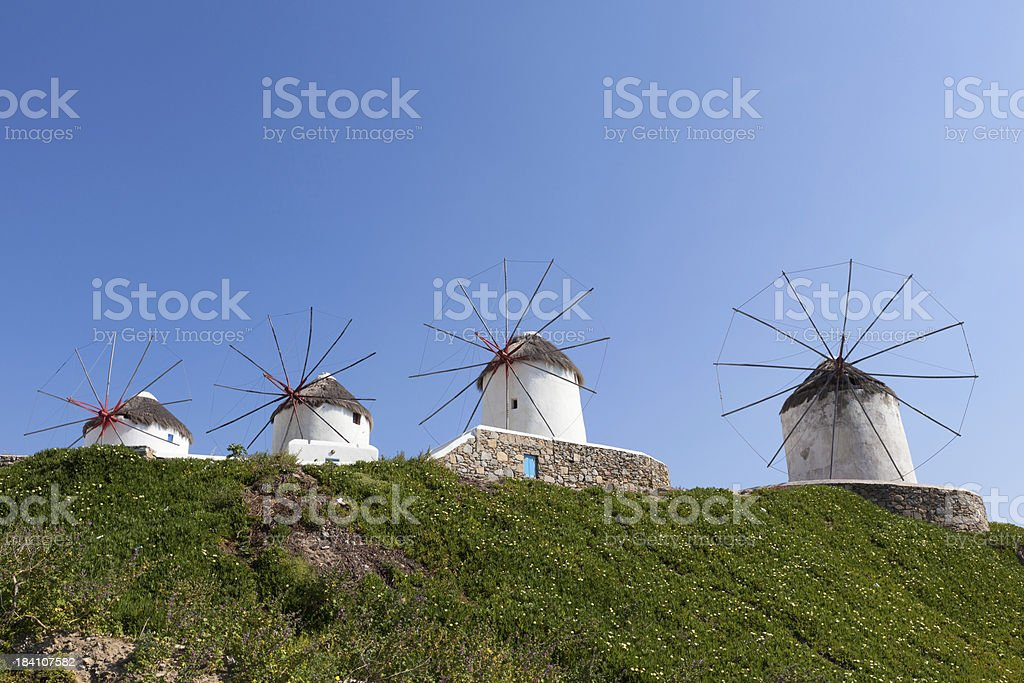 Windmills of Mykonos royalty-free stock photo